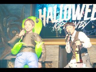 本日みなさんの仮装を紹介するのは、酔っ払いに扮した隼人CNOとエイリアンに連れて行かれかけている心CPOです!!